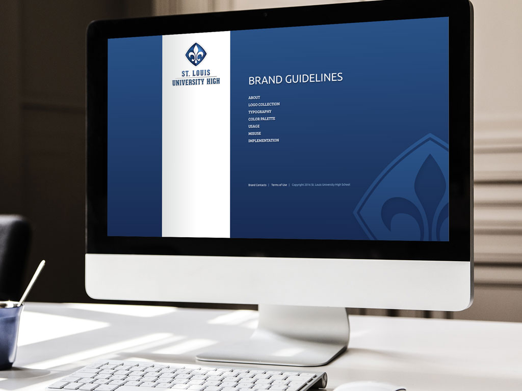 Logo design, branding, Saint Louis University High, web