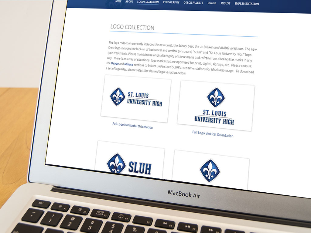sluh website, website design