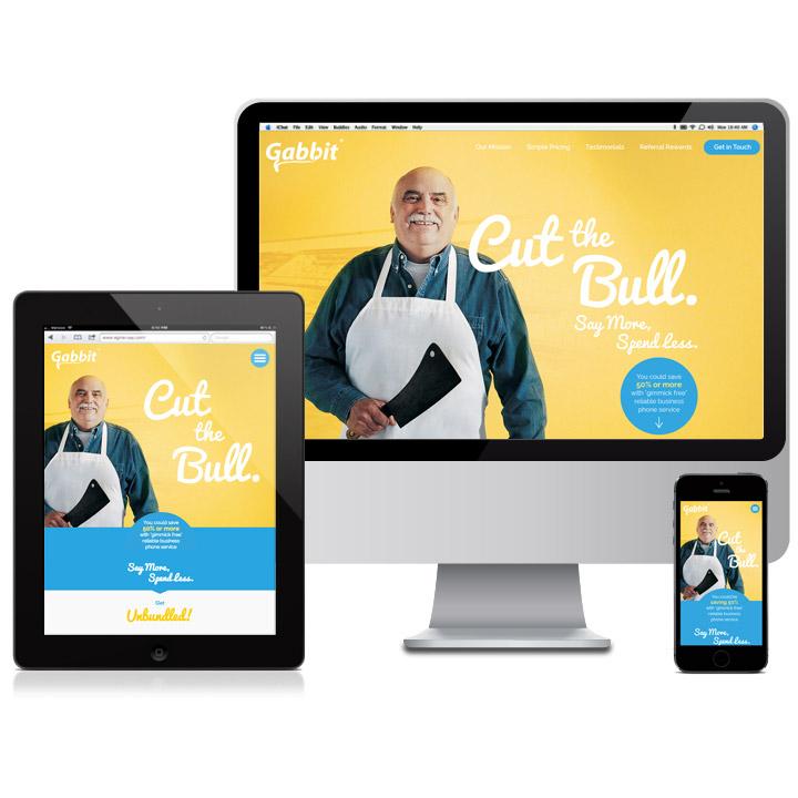 Responsive Design Website for Gabbit