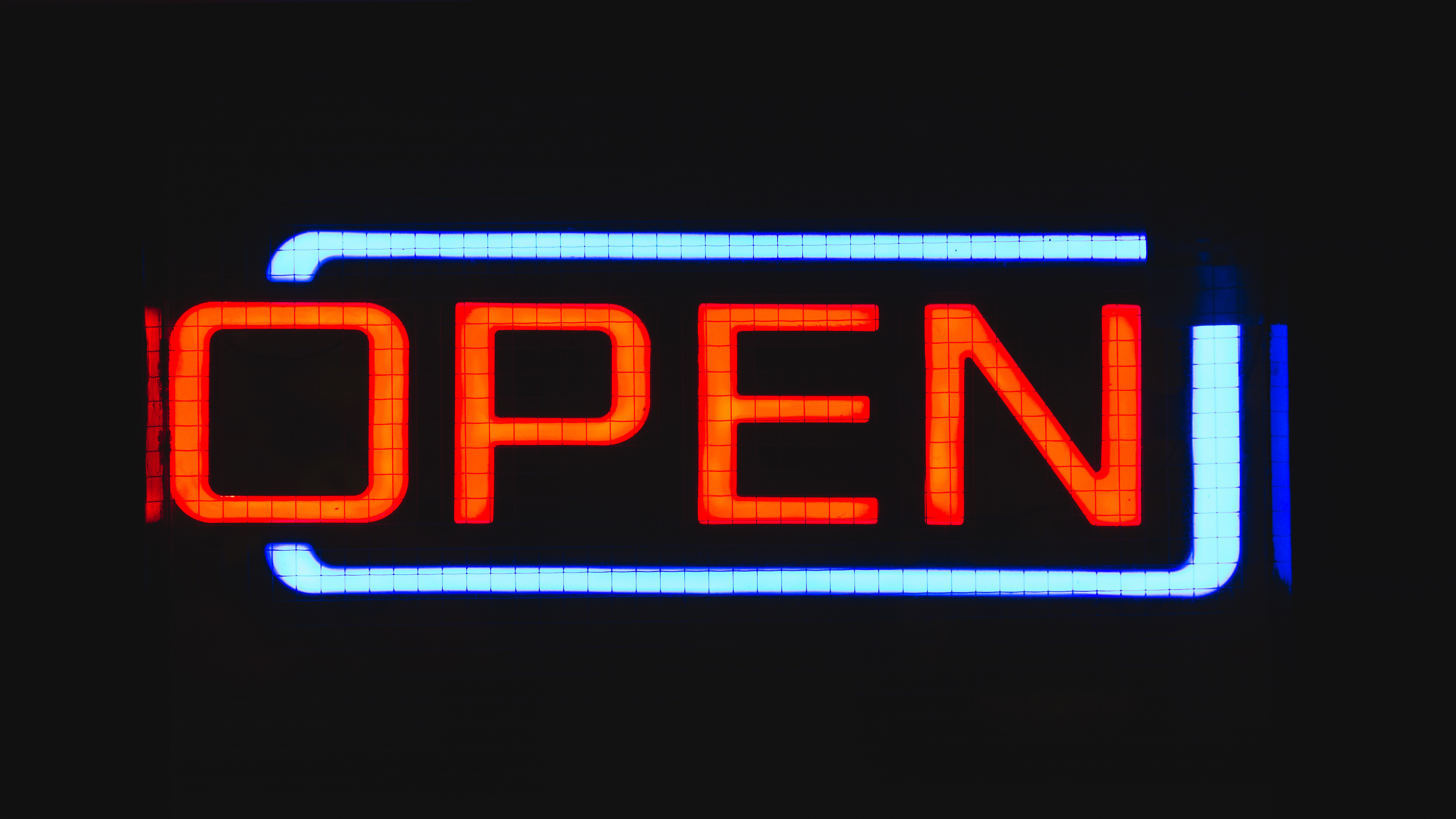 Open sign   Web Design