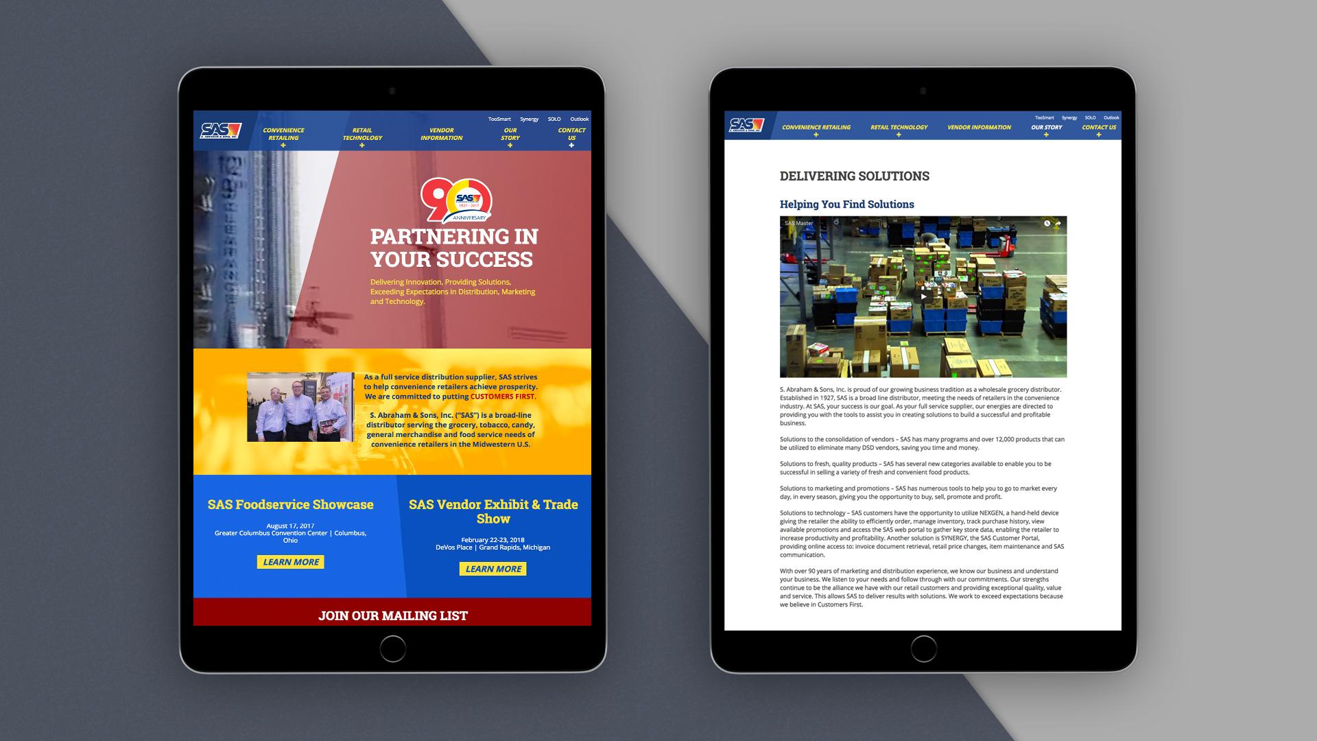 SAS web design
