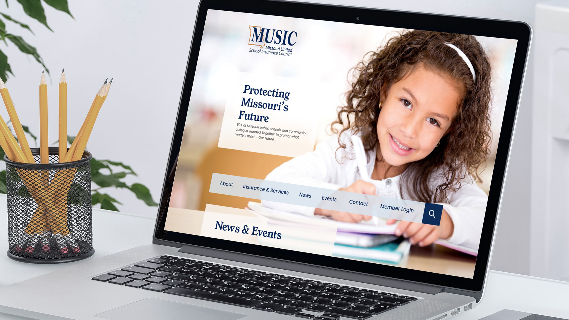 The homepage of the new MUSIC site is visible to the public. With Single Sign-On (SSO) integration, members can log in to view private pages on the site or access their administrative portal, based on their unique access level.