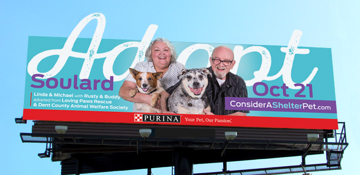 Purina billboard
