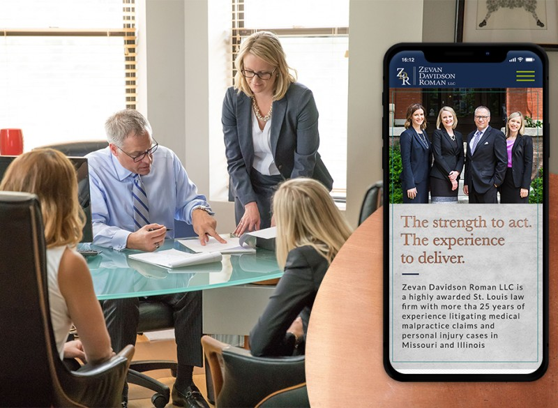 ZDR Law Firm mobile friendly design