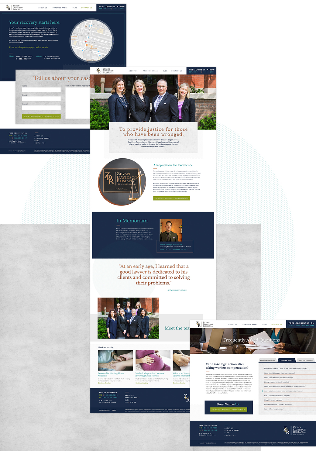 ZDR Law Firm new website