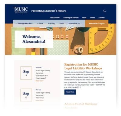 music homepage design