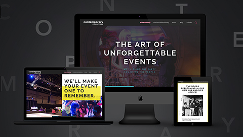 Website design and redevelopment for Contemporary Productions.