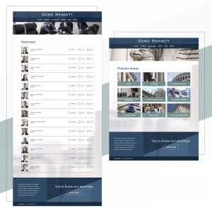 On the new Dowd Bennett web design features and extensive attorney directory and shows architectural elements of the firm in its photography choices.