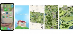 Within the app, users can view a full map of the park or focus in on the attraction or area that they wanted to explore.