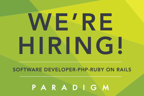 we are hiring a software developer