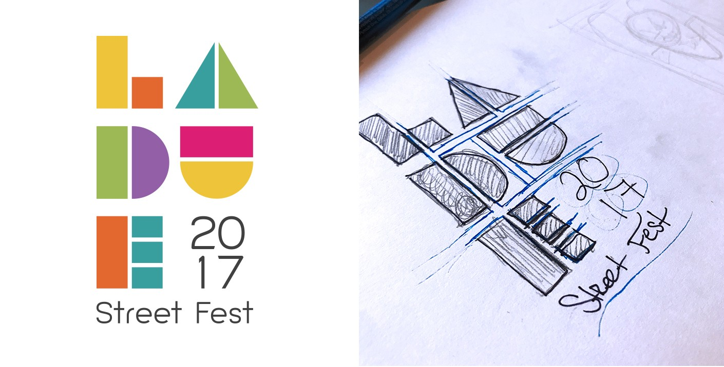 Logo design for the Laude Street Fest.