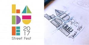 Logo design for the Laude Street Fest.