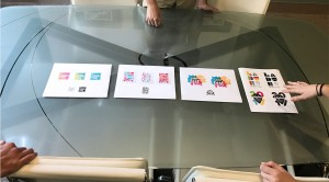 Our graphic design process. Showing initial concepts for the Ladue Street Fest logo design.