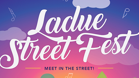 Poster design for the first annual Ladue Street Fest.