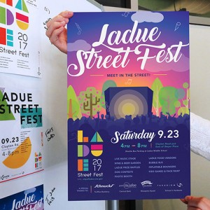 St. Louis Digital Marketing Firm, Paradigm New Media Group, designed the event poster for the Ladue Street Fest in 2017.