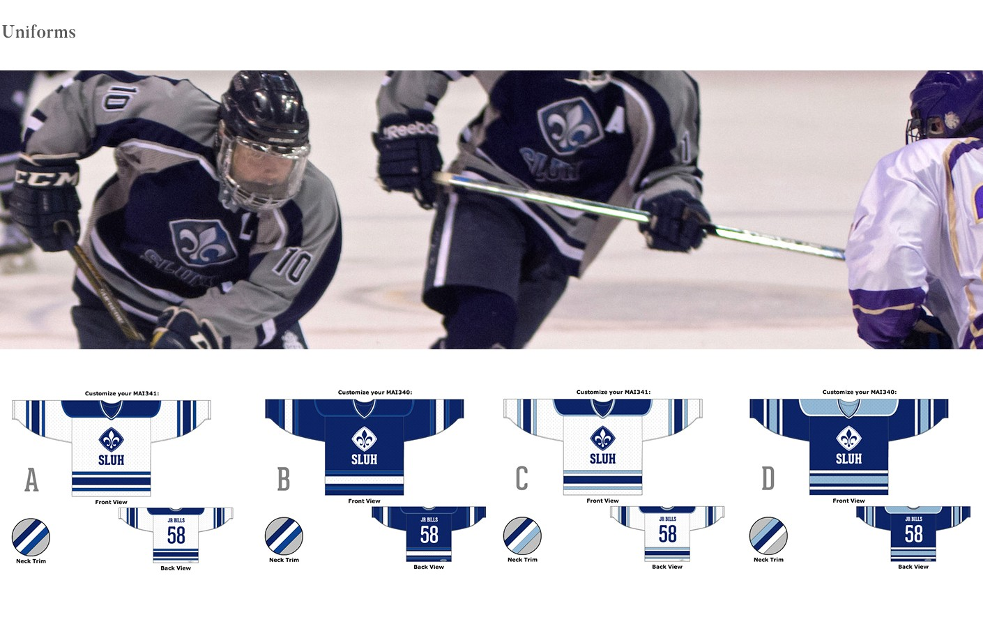 sluh uniform design