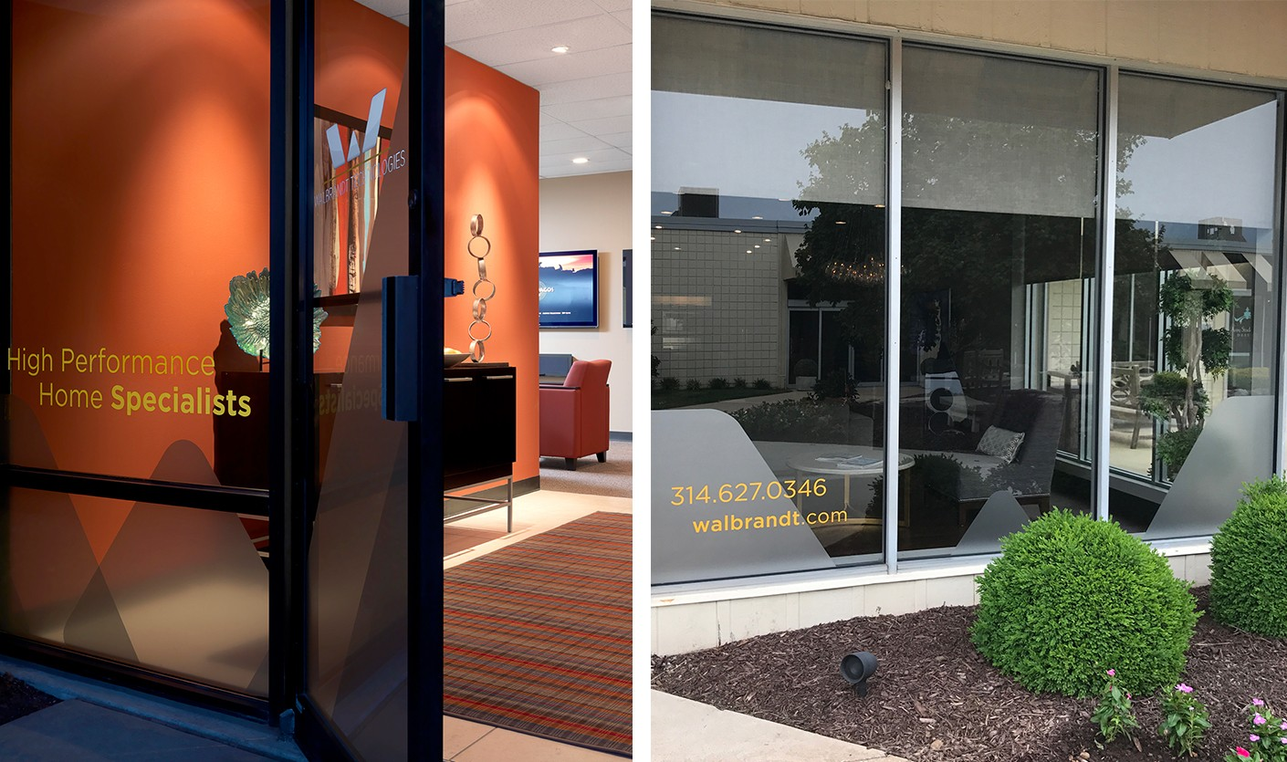 Our environmental design work carried the brand image through the showroom's interior and exterior.