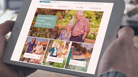 Bethesda health group mobile web design