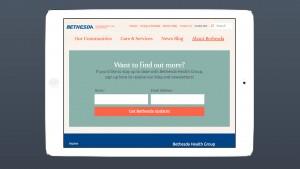 bethesda mobile and tablet web design