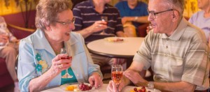 bethesda seniors enjoying a meal