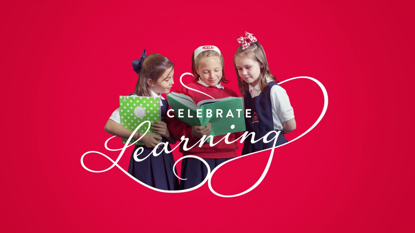 Celebrate Learning was featured in the messaging of Visitation Academy's lower school.