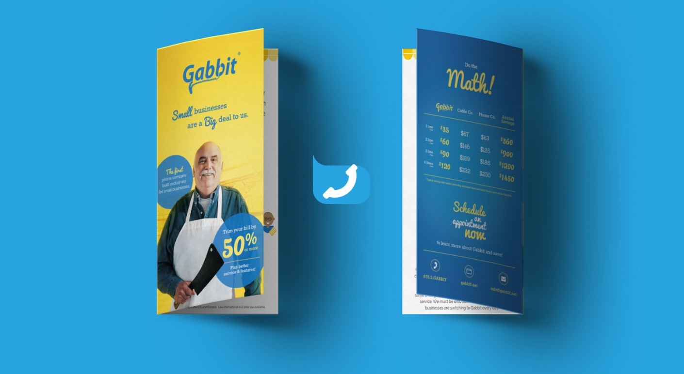 Gabbit brochure graphic design, collateral