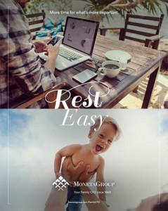 Moneta rest easy branding campaign print ad