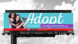 Purina billboard advertising design