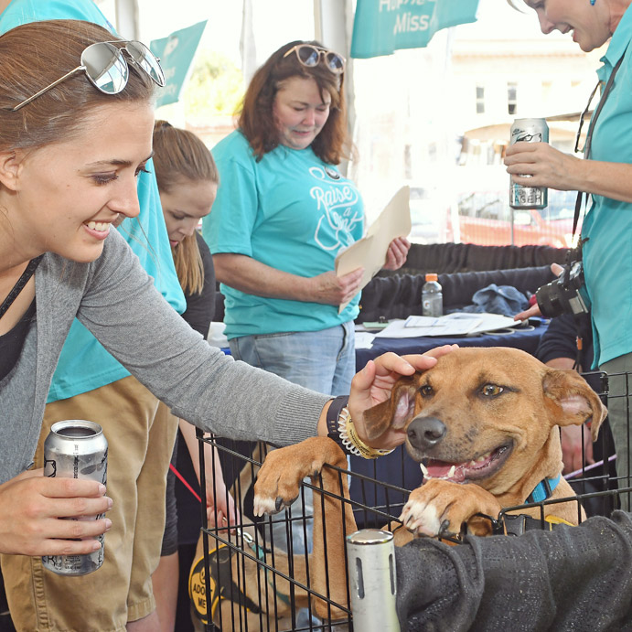 Shelters from across the greater St. Louis area were in attendance at the event, and each shelter had pets that were ready to be adopted. UCBC was at the adoption event, selling the Urban Underdog beer.