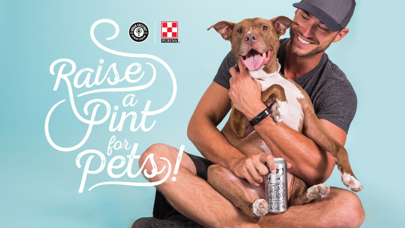 "Partnering with UCBC, Purina's 2017 adoption campaign we developed the campaign's messaging. ""Raise a Pint for Pets"" was featured on the social media posts that touted the partnership, while a strong call to action to ""Adopt"" was featured on the Purina social posts."