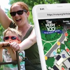 In 2018, the Muny celebrated it's 100th season, and Paradigm helped by creating an interactive web map for their website.