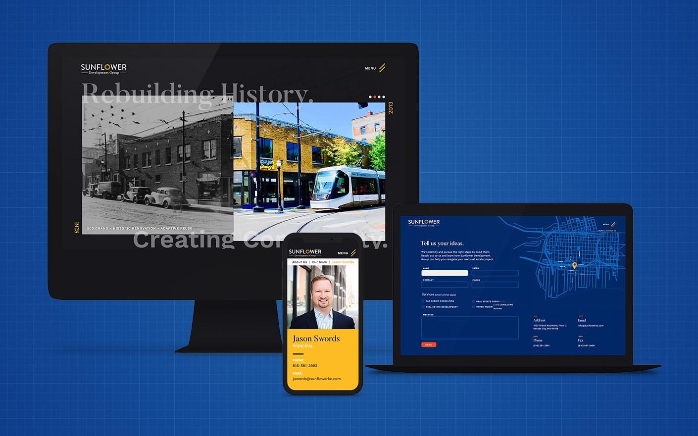 sunflower development web design