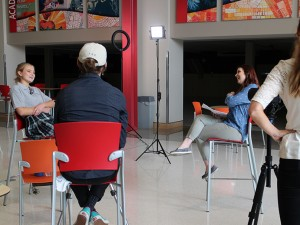 On set at Cor Jesu Academy during video production. Here, we interview Kaitlyn Esson and discuss the Heart of Education.