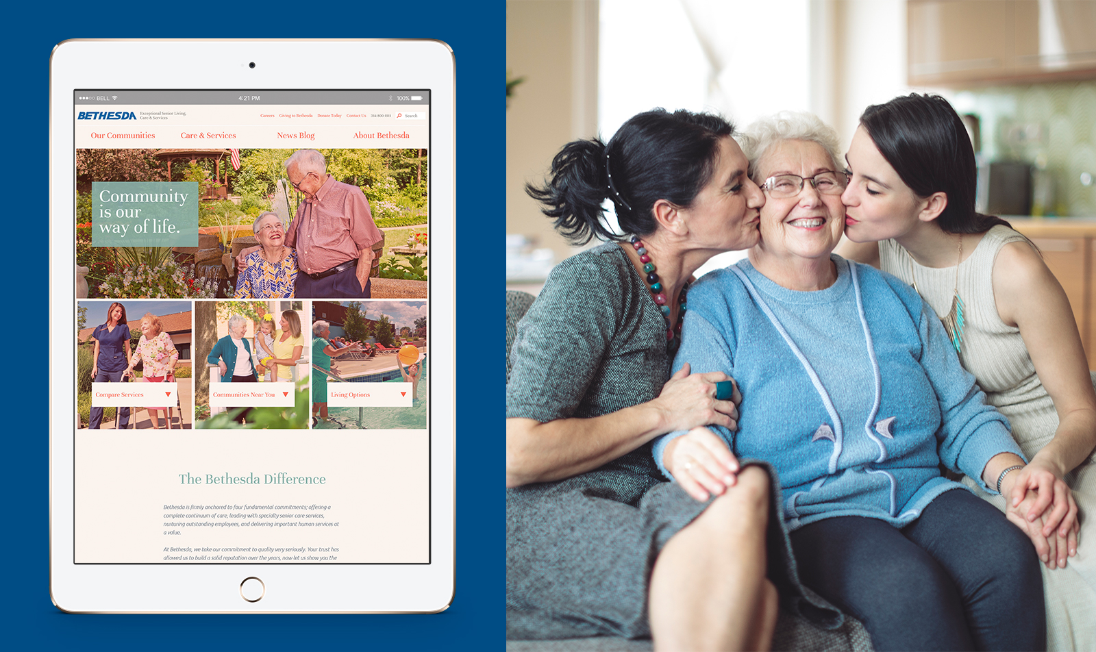 Website Design for Bethesda Health Group.