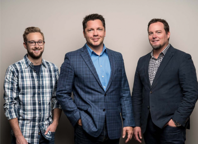 From left: Zachary Dodson, Copywriter; Michael Huber, Founder, Principal, and Creative Director of Paradigm; John Duffy, Principal and Technology Director of Paradigm.