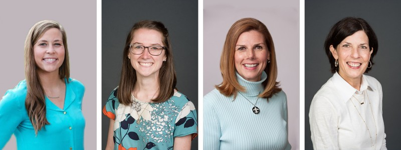 Colleen Barry, Colleen Smyth, Katie Thiemann, and Cynthia Wilhelm make up the Admissions, Corporate Engagement and Marketing team at Cor Jesu Academy.