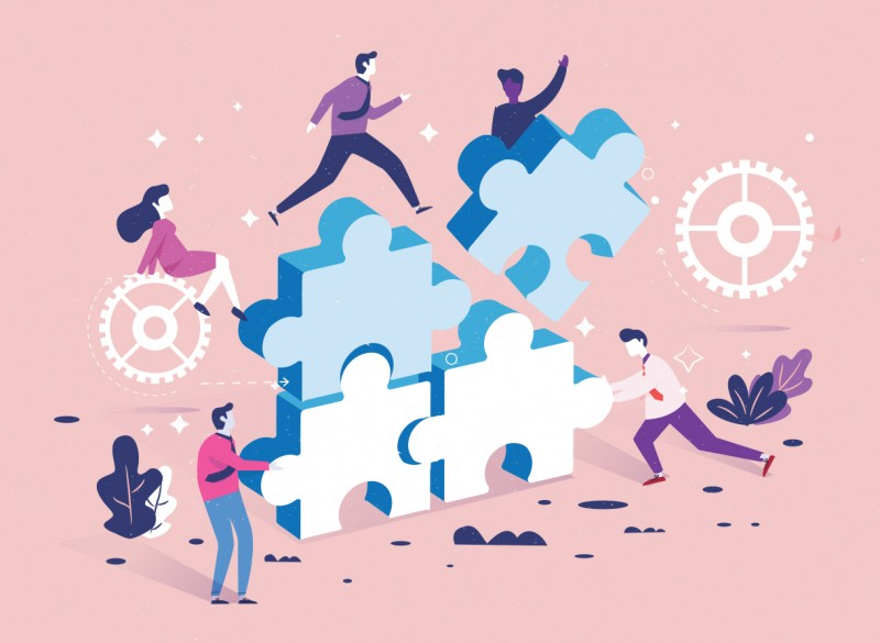Employees work with marketing agencies as a well-oiled machine